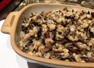 wld rice and mushroom pilaf